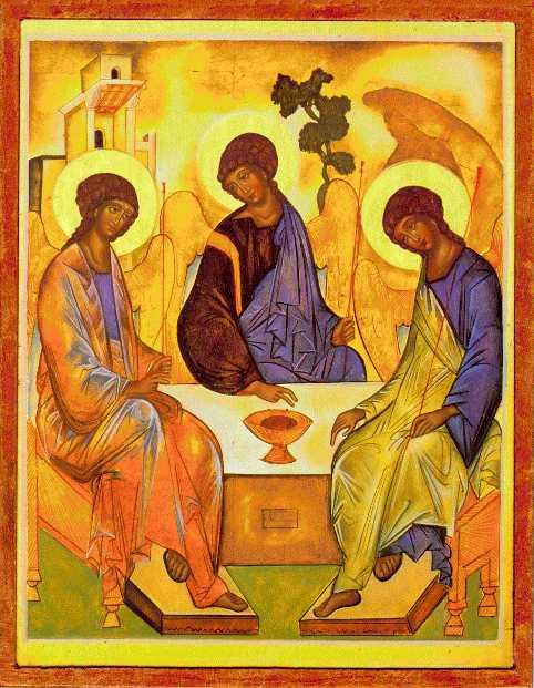 Rublev's Trinity inviting us to Communion
