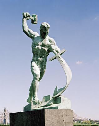 Statue in the UN Garden