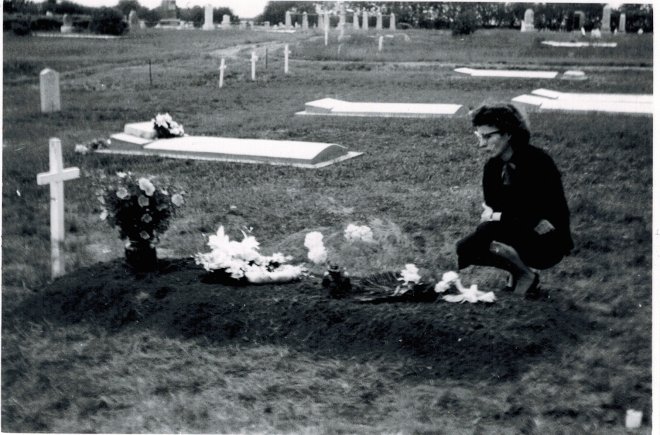 Mom at Dad's Grave, 1959