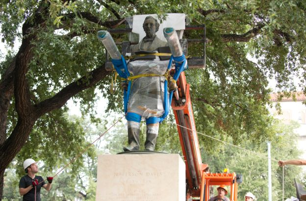 Jefferson Davis statue removed