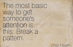 Break a pattern quote