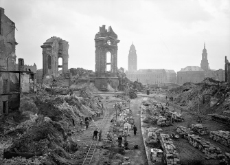 Church of Our Lady ruins, 1952, Dresden